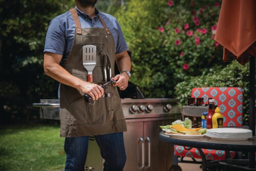 Tampa Bay Buccaneers - BBQ Apron with Tools & Bottle Opener Perspective: bottom