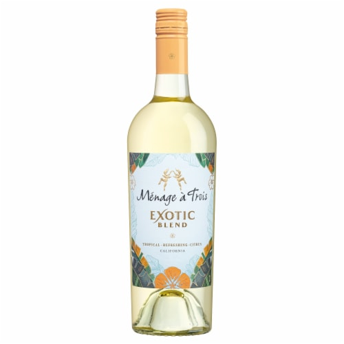Menage a Trois White Blend Wine Perspective: bottom