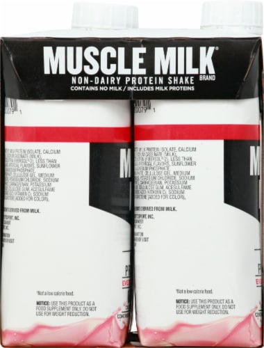 Muscle Milk Genuine Non Dairy Strawberries 'n Creme Protein Shake Perspective: bottom