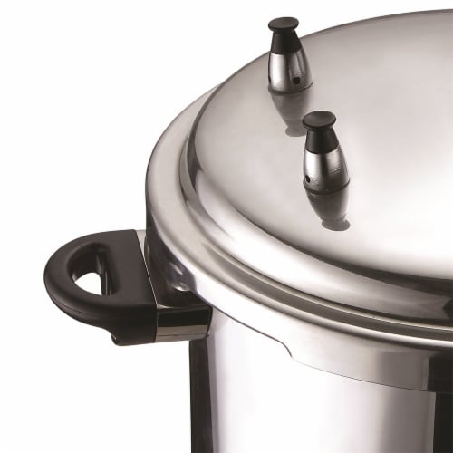 Brentwood BPC-112 9.5 Quart Pressure Cooker with 3 Safety Valves, Aluminum Perspective: bottom