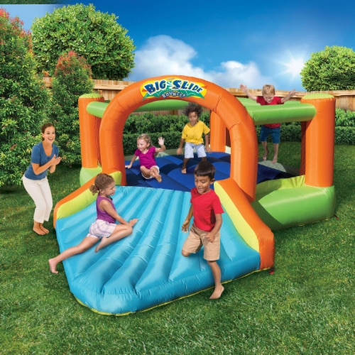 Banzai Big Slide Bouncer Outdoor Inflatable Kids Playhouse and Slide with Blower Perspective: bottom