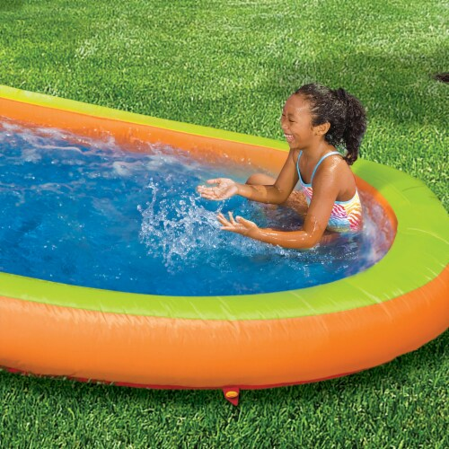 Banzai Lazy River Inflatable Outdoor Adventure Water Park Slide and Splash Pool Perspective: bottom