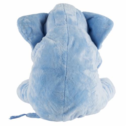 Blue Elephant Stuffed Animal Pillow Kids Adults Huggable Toddler Kids Friend Perspective: bottom