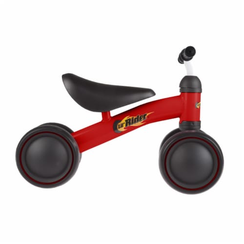 Red Baby Toddler Ride on Toy Bike Trike Walk Training for Boys or Girls No Pedals Perspective: bottom