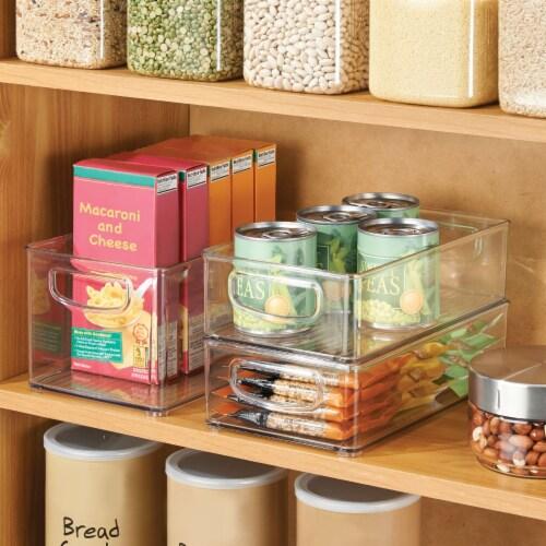 mDesign Plastic Kitchen Food Storage Organizer Bin - 8 Pack Perspective: bottom