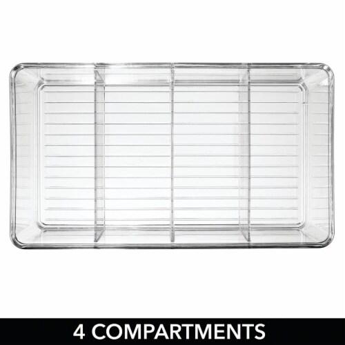 mDesign Plastic Kitchen Pantry Food Storage Organizer Bin, 2 Pack Perspective: bottom