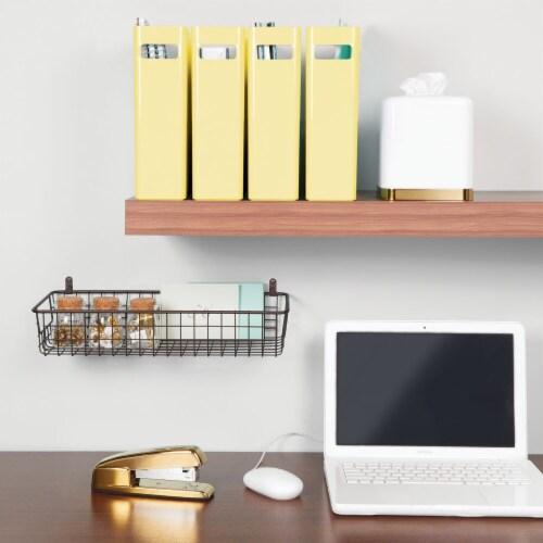 mDesign Plastic File Folder Bin, Office Desktop Organizer, 8 Pack Perspective: bottom