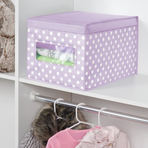 mDesign Stackable Fabric Closet Storage Organizer Box, Lid - 4 Pack Perspective: bottom