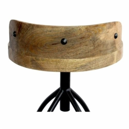 Industrial Style Adjustable Swivel Bar Stool With Backrest ,Saltoro Sherpi Perspective: bottom