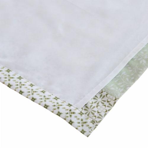 Saltoro Sherpi Fabric Panel Curtains with Geometric Pattern Motifs, Set of 4, Green Perspective: bottom