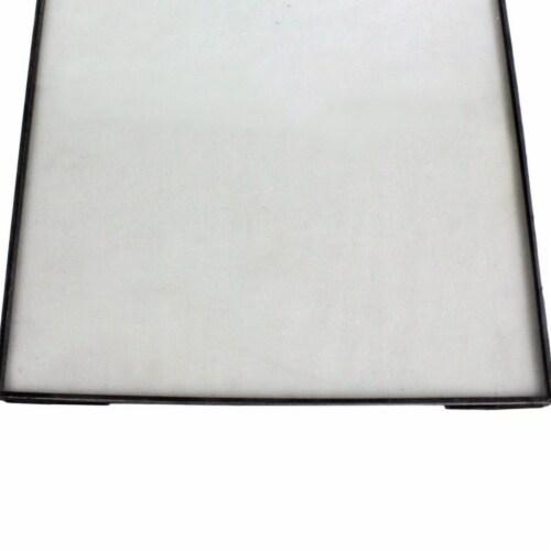 Saltoro Sherpi Sleek Metal Vertical Wall Frame with Keyhole Hanger, Black and White Perspective: bottom