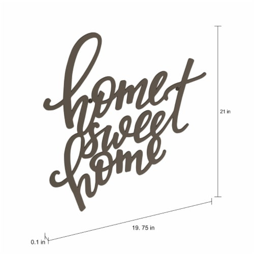 Metal Cutout- Home Sweet Home Decorative Wall Sign-3D Word Art Home Accent Decor Perspective: bottom