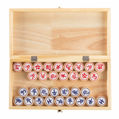 Chinese Chess – Wooden Beginner's Traditional Tabletop Strategy and Skill Board Game for Two Perspective: bottom