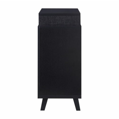 Furniture of America Pahrump Wood Wine Storage Buffet in Black Perspective: bottom