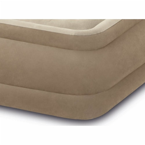 Intex Ultra Plush Fiber Tech Air Mattress Bed with Built In Pump, Queen (2 Pack) Perspective: bottom