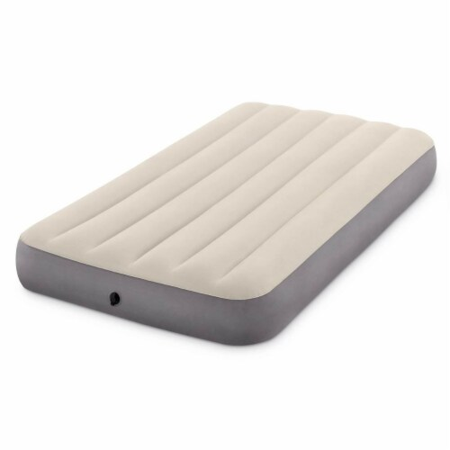 Intex Twin Deluxe Dura Beam Single High Airbed Mattress & Cordless Electric Pump Perspective: bottom