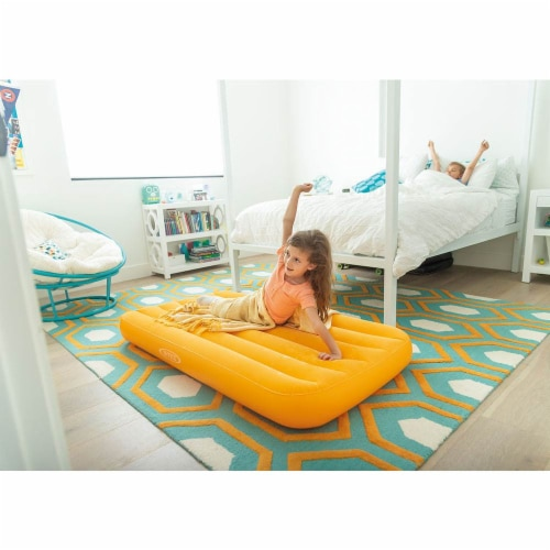 Intex Cozy Kidz Air Bed Mattress with Carry Bag and Intex Electric Air Bed Pump Perspective: bottom