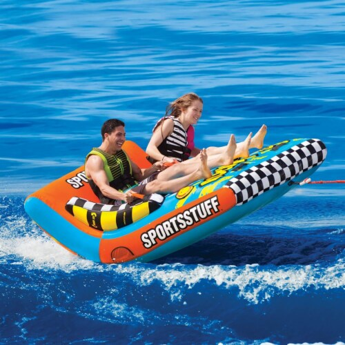 Sportsstuff Inflatable Rock N' Tow 2 Sitting Double Rider Towable Boat Lake Tube Perspective: bottom