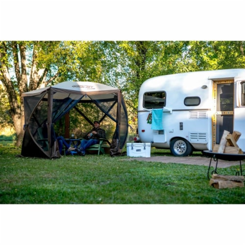 Clam QuickSet Venture Portable Outdoor Gazebo Canopy Shelter, Brown (2 Pack) Perspective: bottom