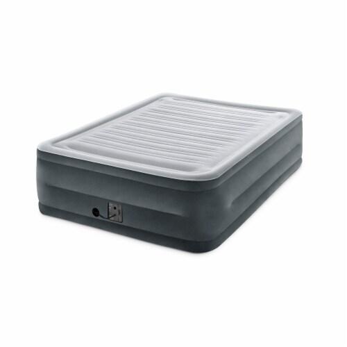 Intex Comfort High Rise Dura Beam Air Mattress w/ Built-In Pump, Queen (2 Pack) Perspective: bottom