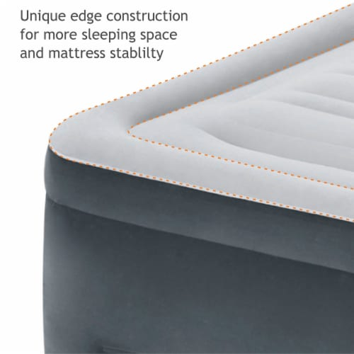 Intex Dura Beam Plus Series Elevated Mattress Airbed with Pump, Queen (2 Pack) Perspective: bottom