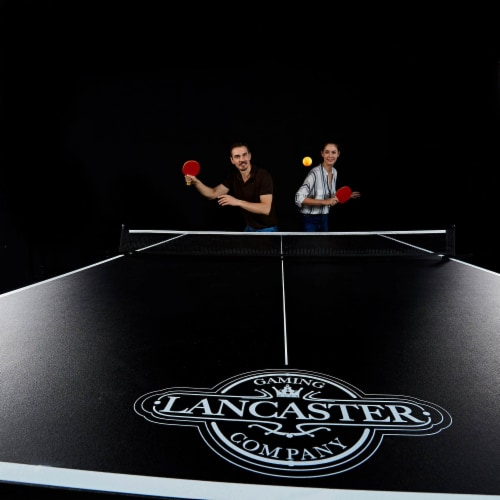 Lancaster 2 Piece Foldable Indoor Table Top Tennis Set with Net & Post (2 Pack) Perspective: bottom