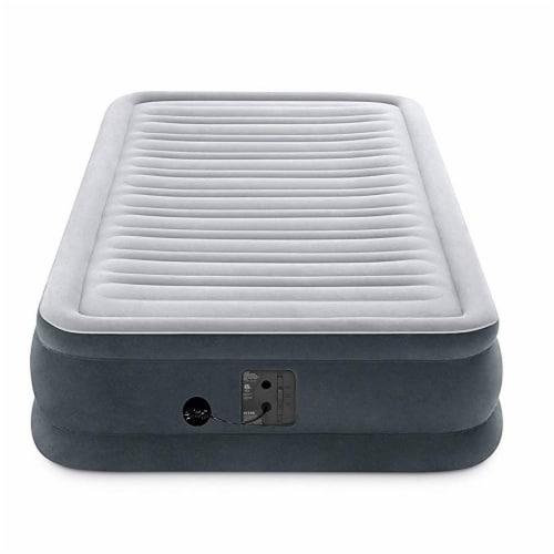 Intex Comfort Plush Dura Beam Plus Series Mid Rise Airbed w/ Pump, Twin (2 Pack) Perspective: bottom