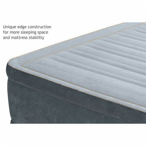 Intex PVC Dura-Beam Series Mid Rise Airbed with Built In Electric Pump, Twin (8) Perspective: bottom