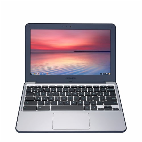 ASUS 11.6-inch Chromebook Laptop with 180 Degree Hinge (Certified Refurbished) Perspective: bottom