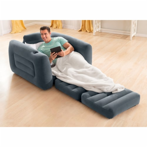 Intex Inflatable Pull Out Sofa Chair Sleeper/Twin Sized Air Mattress (2 Pack) Perspective: bottom