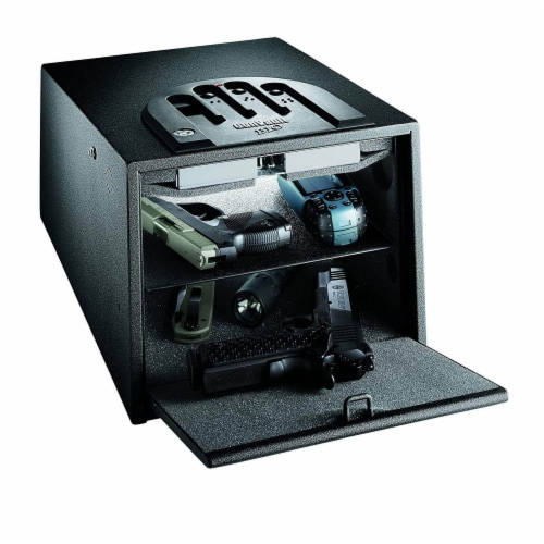 GunVault MultiVault Deluxe Electronic Handgun & Valuables Lock Box Safe (2 Pack) Perspective: bottom