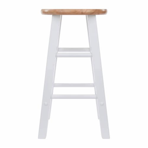 Winsome Element 23.86 Inch Solid Wood Counter Bar Stool Set, White (4 Pack) Perspective: bottom