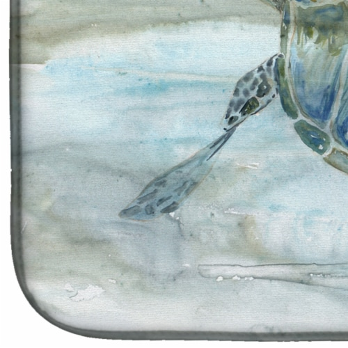 Carolines Treasures  SC2006DDM Sea Turtle Watercolor Dish Drying Mat Perspective: bottom