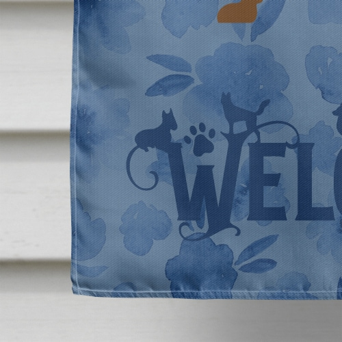 Carolines Treasures  CK6109CHF Dachshund Welcome Flag Canvas House Size Perspective: bottom