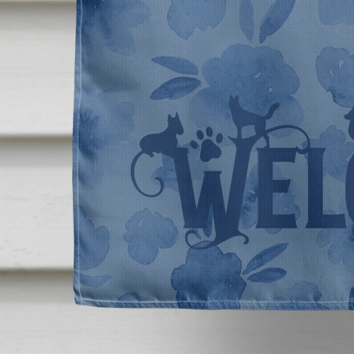 Carolines Treasures  CK6268CHF Skye Terrier Welcome Flag Canvas House Size Perspective: bottom