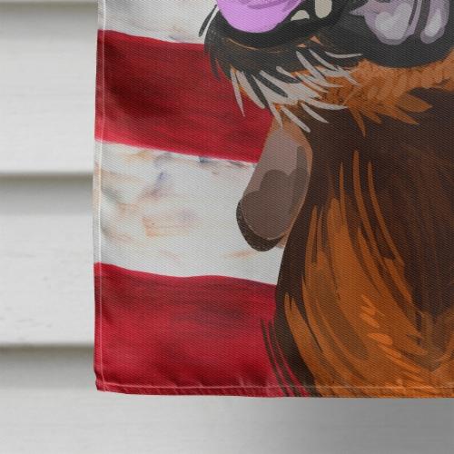 Segugio Italiano Dog American Flag Flag Canvas House Size Perspective: bottom