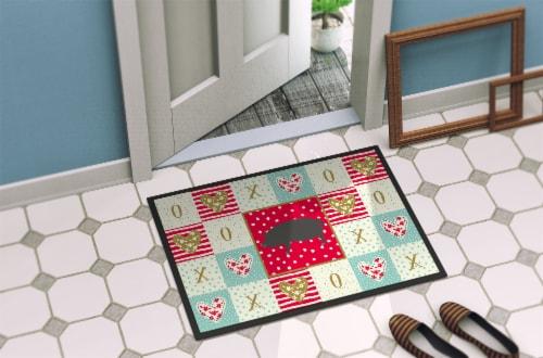 Carolines Treasures  CK5360JMAT Berkshire Pig Love Indoor or Outdoor Mat 24x36 Perspective: bottom