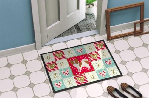 Carolines Treasures  CK5871JMAT Papillon #1 Love Indoor or Outdoor Mat 24x36 Perspective: bottom
