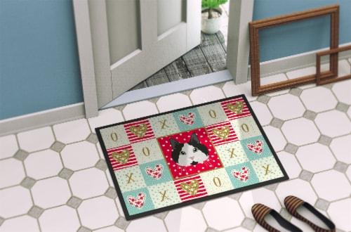 Carolines Treasures  CK5109MAT Cymric #2 Cat Love Indoor or Outdoor Mat 18x27 Perspective: bottom