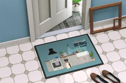 Smooth Fox Terrier Kitchen Scene Indoor or Outdoor Mat 24x36 Perspective: bottom