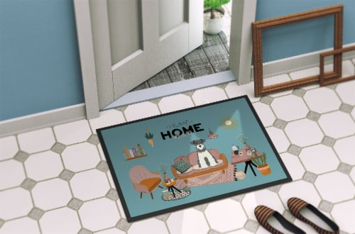 Salt and Pepper Miniature Schnauzer Sweet Home Indoor or Outdoor Mat 24x36 Perspective: bottom