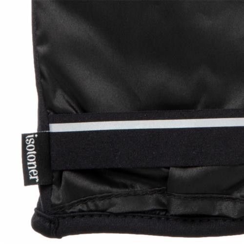 Isotoner® Women's Large-Extra Large Iridescent Gloves - Black Perspective: bottom