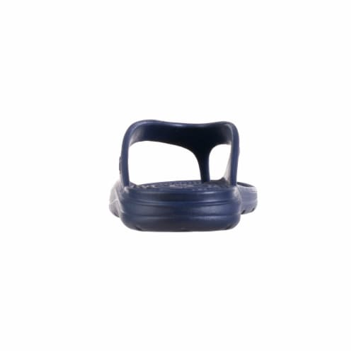 Totes Womens Sol Bounce Ara Thong Sandals - Navy Blue Perspective: bottom