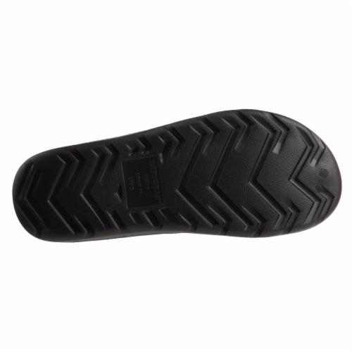 Totes Mens Sol Bounce Ara Thong Sandals - Black Perspective: bottom
