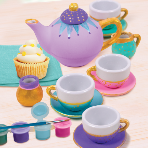 HGU Making in the Moment Paint Your Own Tea Party Set Perspective: bottom