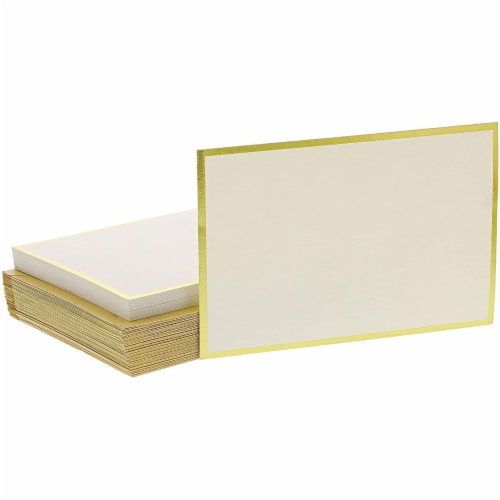 48x Blank Invitation Cards and Envelopes Wedding Baby Bridal Shower Gold 4x6 Perspective: bottom