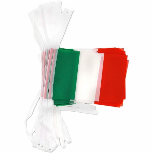Juvale Italian Flag Banners (100 ft, 80 Flags) Perspective: bottom