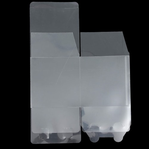 Clear Candy Apple Gift Boxes, Transparent Box for Party Favors, Cupcakes (4 In, 30 Pack) Perspective: bottom