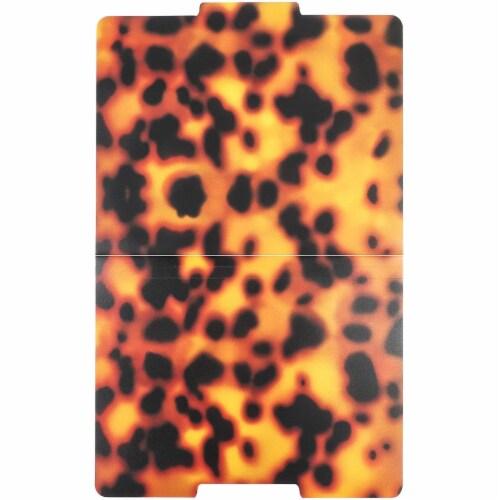 Decorative File Folders, 1/3 Cut Tab, Letter Size, Plastic Tortoise Shell (6 Pack) Perspective: bottom