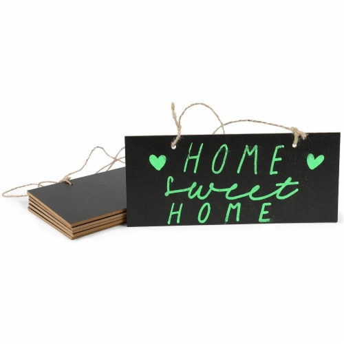 Mini Hanging Chalkboard Signs with Liquid Chalk Markers, Sticks (10 Pieces) Perspective: bottom